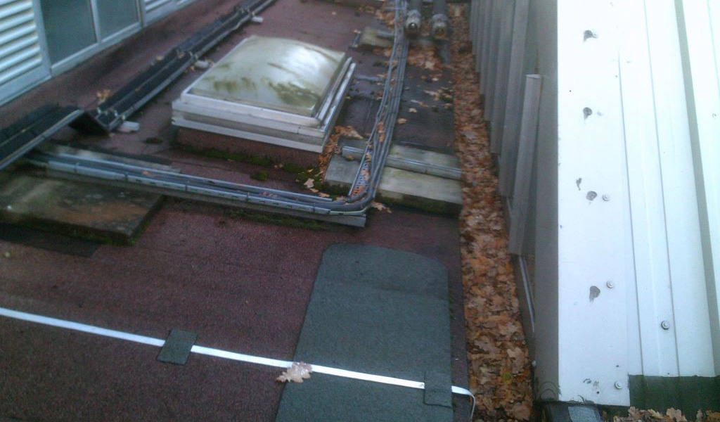 Roof of university building